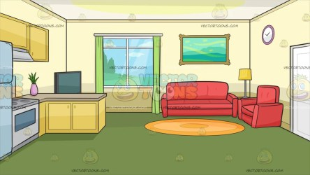 room background living kitchen inside clipart rooms cartoons vectortoons wall yellow elegant pale couch 3d