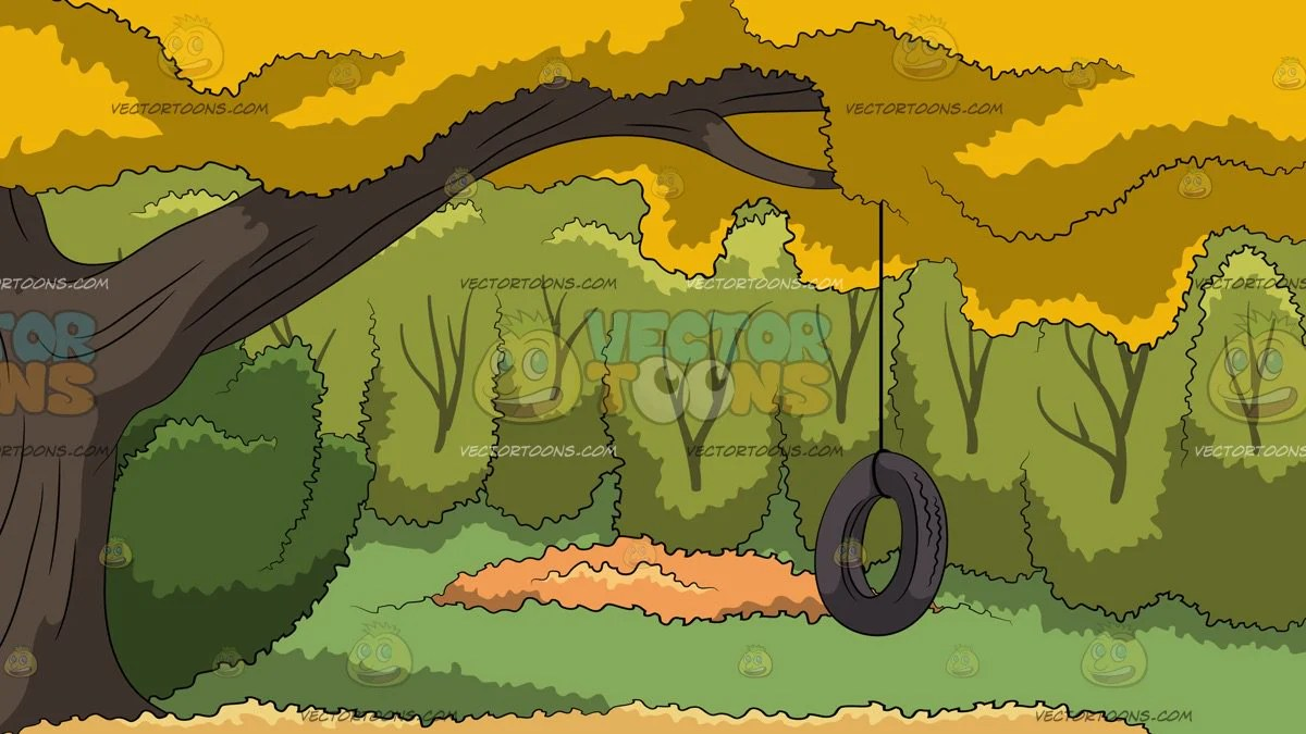 hight resolution of tire swing in a backyard background