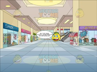 mall shopping background clipart vectortoons cartoons