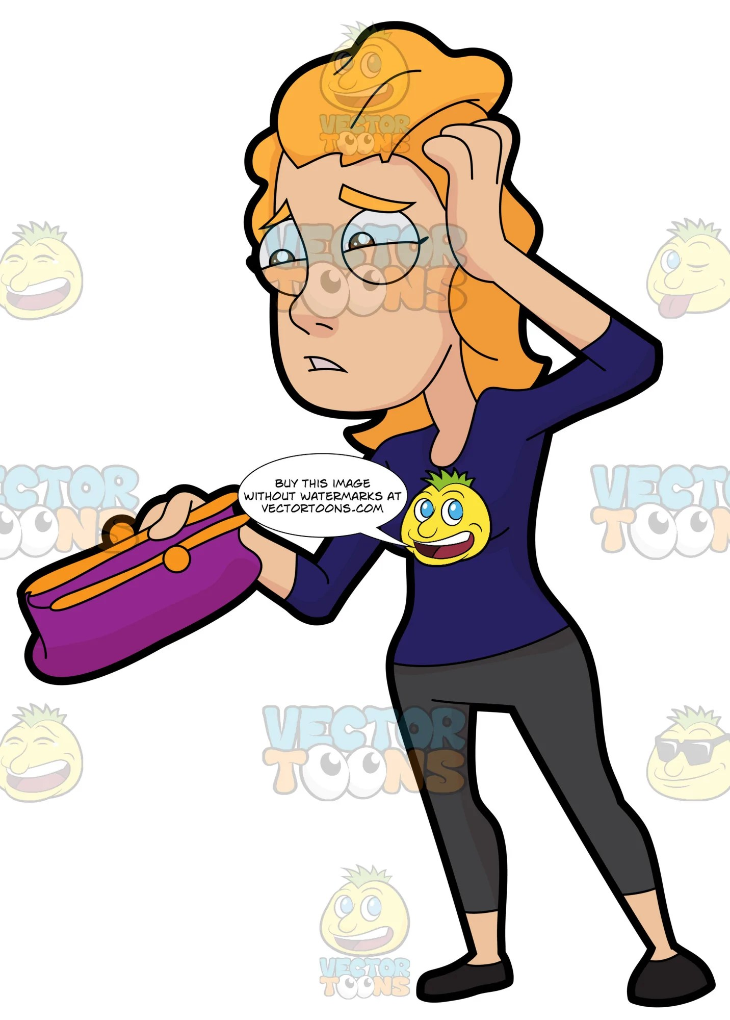 hight resolution of stressed clipart