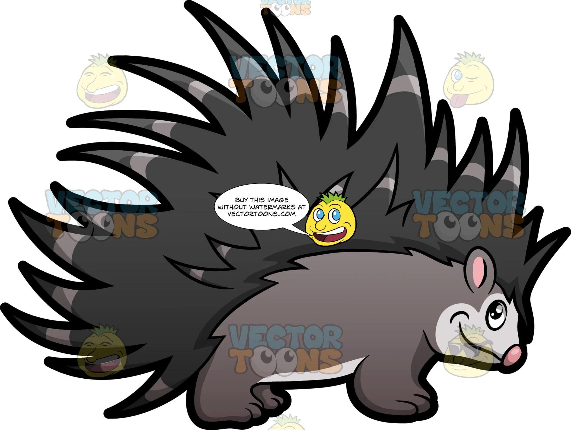 porcupine clipart [ 2000 x 1507 Pixel ]