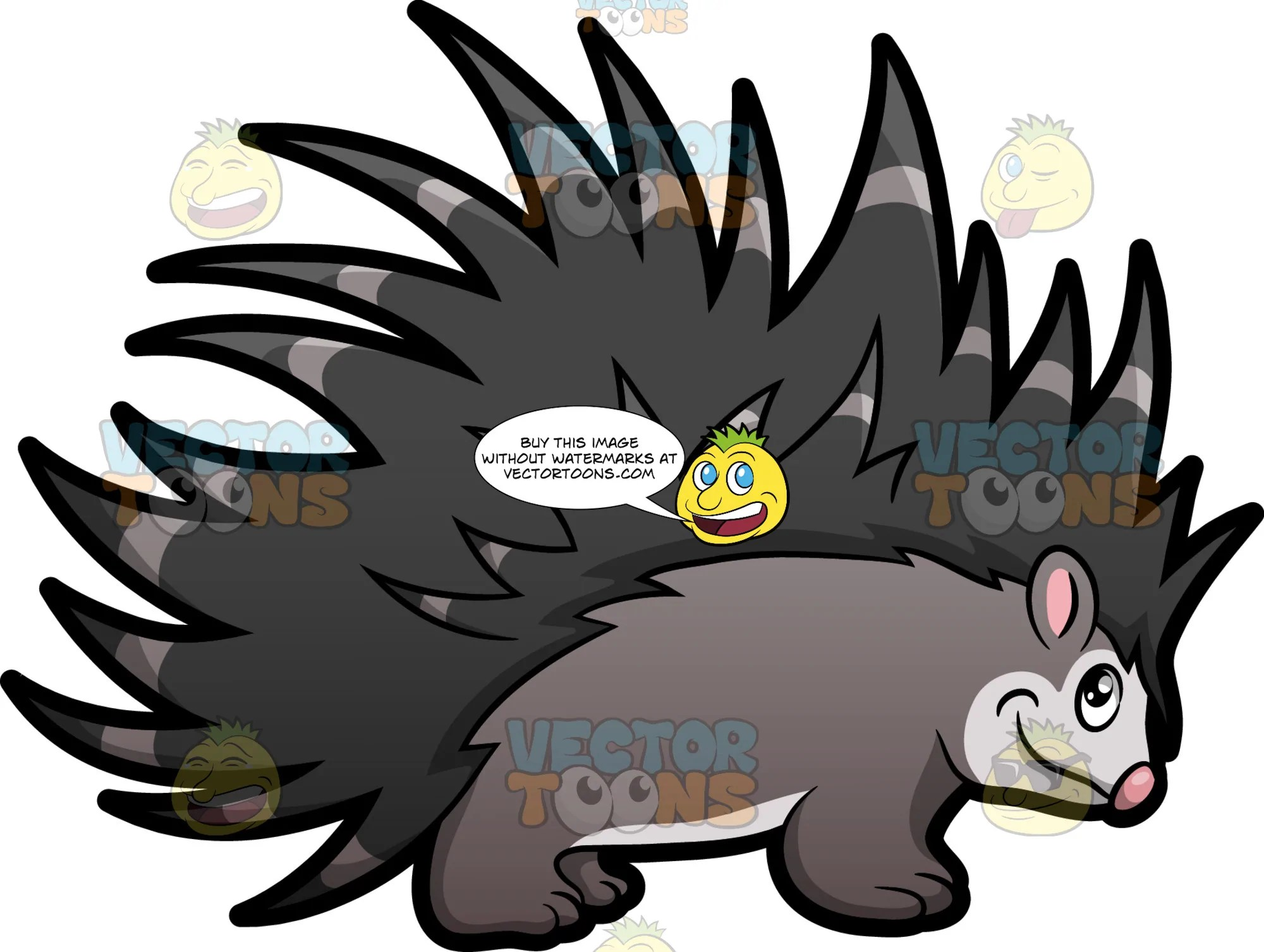 hight resolution of porcupine clipart
