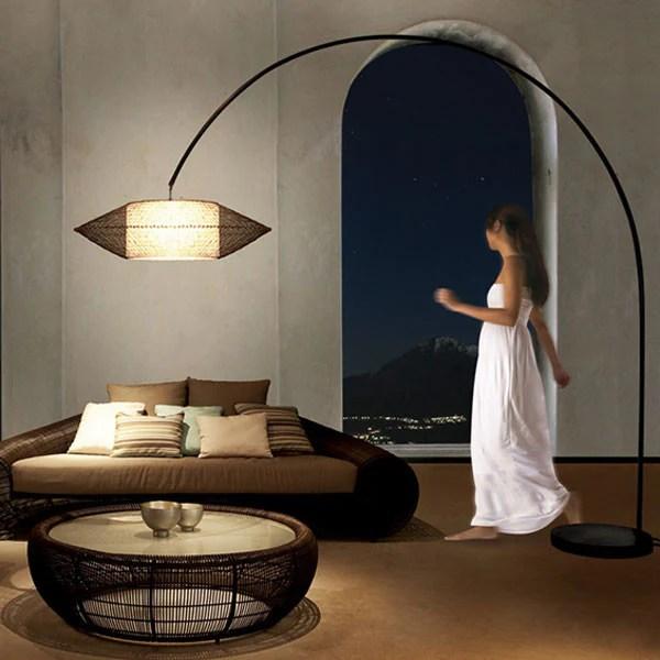 Kai Arc Lamp Large by Kenneth Cobonpue for Hive  Vertigo Home