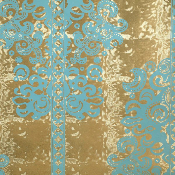Monaco  Scrubs on Gold Pony Skin Foil Wallpaper by Flavor Paper  Vertigo Home
