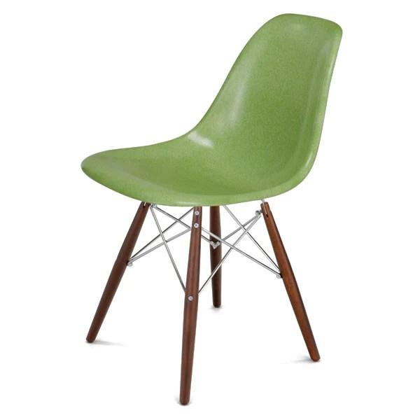 fiberglass shell chair hello kitty high modernica side w maple black wire dowel base walnut chrome by vertigo home