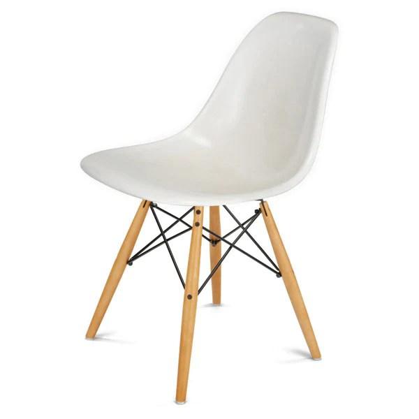 fiberglass shell chair glider covers canada modernica side w maple black wire dowel base by vertigo home