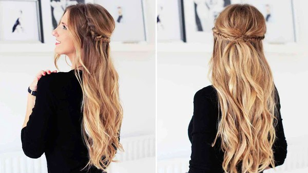 Holiday Half Updo Hairstyle  Luxy Hair