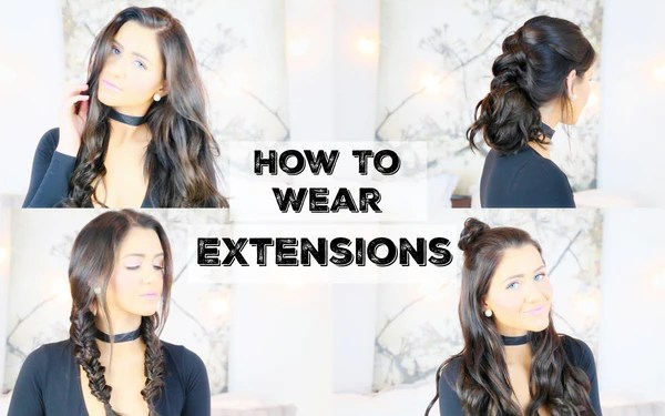 How To Wear Extensions For 5 Different Hairstyles Luxy Hair
