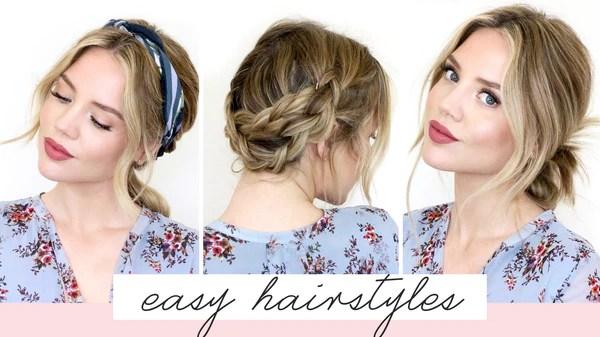 5 easy hairstyles short medium