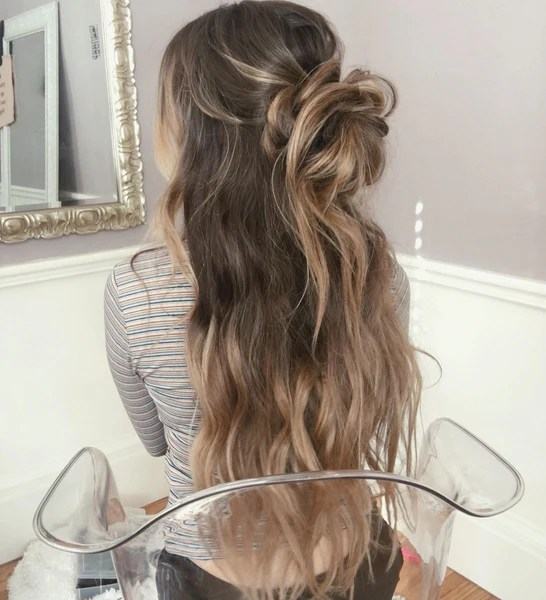 style long hair beach waves