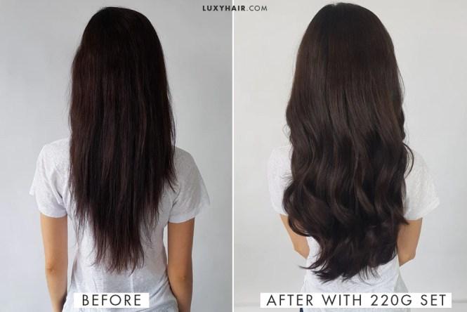 18 inch hair extensions vs 20 the best hair 2017 foxy locks dark brown 20 230 gram extension review bellami 18 silky straight brazilian remy hair pmusecretfo Gallery