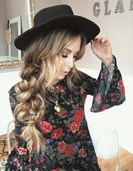 boho hairstyles twist braid