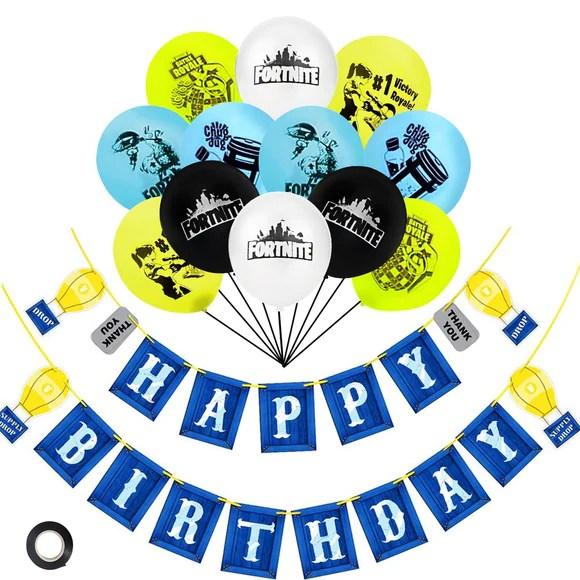 fortnite theme birthday party