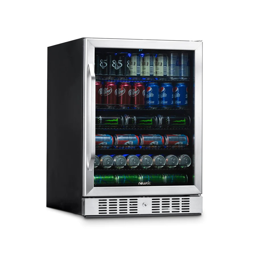 newair 24 built in 177 can beverage fridge with precision temperature controls  [ 900 x 900 Pixel ]