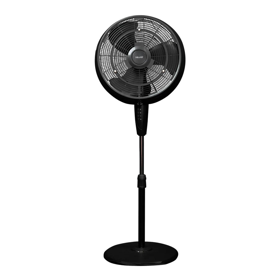 newair outdoor misting fan and pedestal fan combination 500 sq ft  [ 900 x 900 Pixel ]