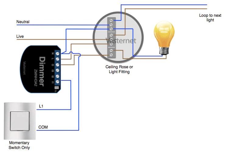 Fibaro Dimmer Into The Main Lighting Circuit Near The Light Fitting