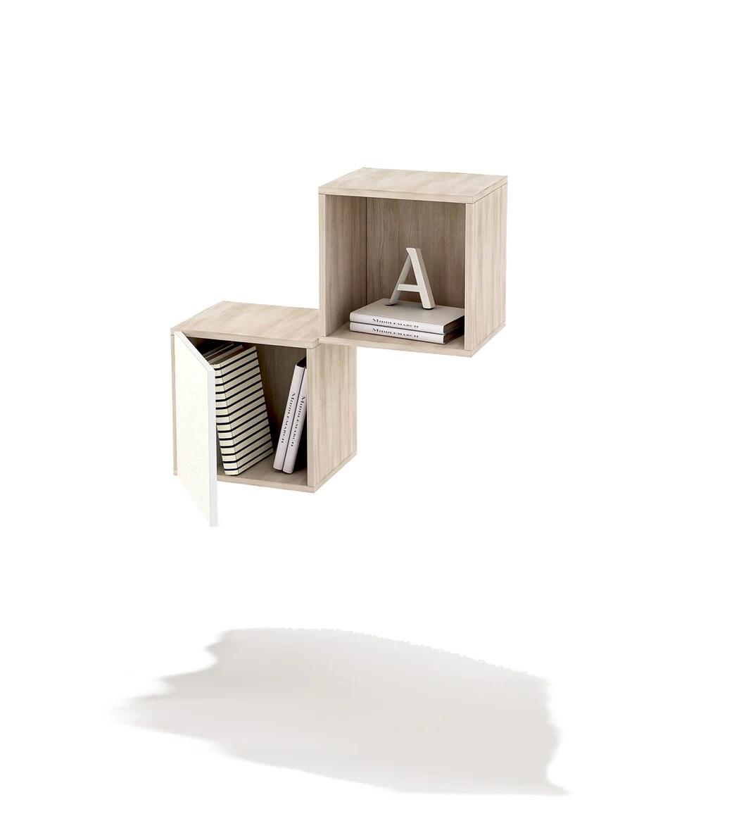 Linee essenziali per le mensole del soggiorno. Cubi Composizione Librerie A Muro Mensola 2 Cubi Cubo Con Anta Cameretta Camera Ufficio Lavanderia Doomostore