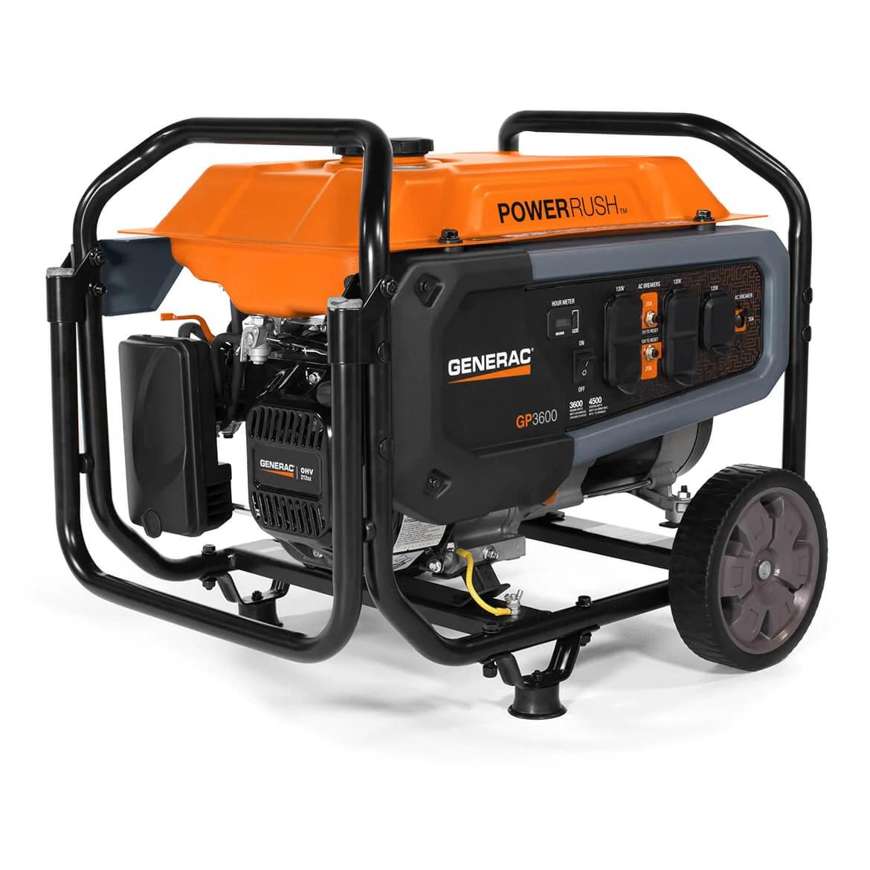 hight resolution of generac gp3600 212cc 120 volt 30 amp gas powered portable generator 7677
