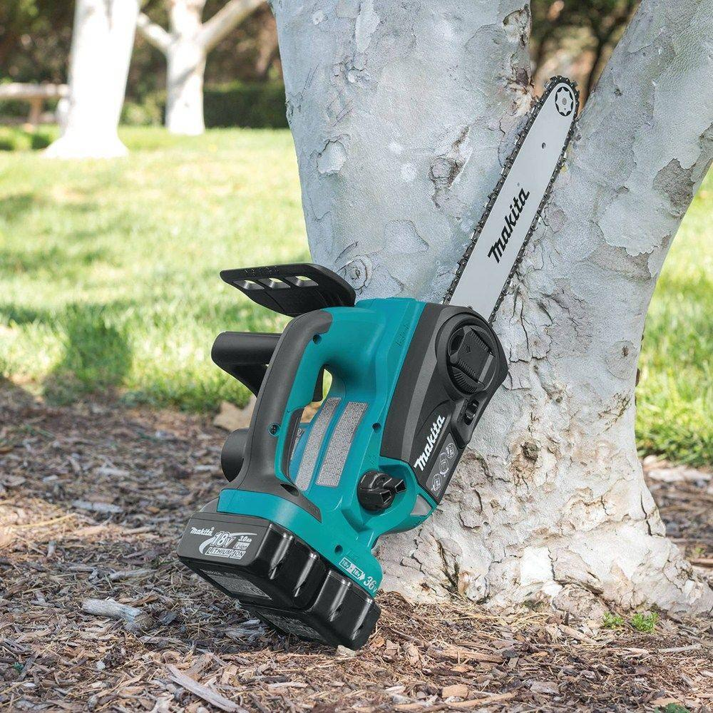 makita xcu02z 36 volt x2 lxt lithium ion cordless chainsaw bare tool factory authorized outlet [ 1000 x 1000 Pixel ]