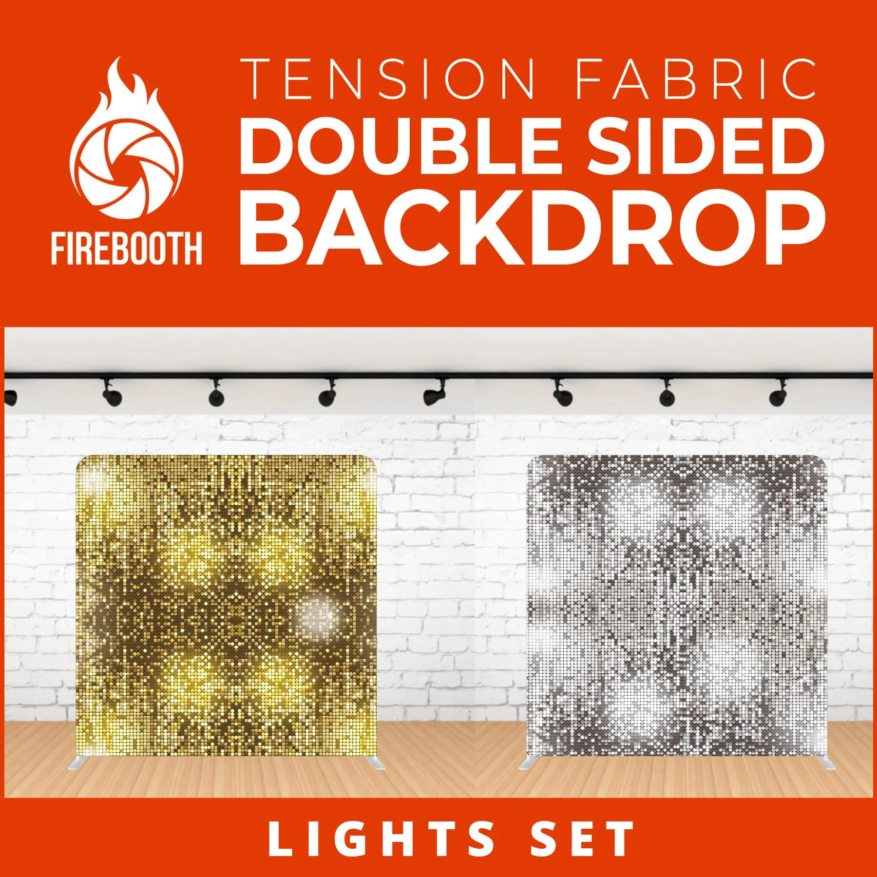 Lights Set-5 Double Sided Tension Fabric Photo Booth Backdrop – FireBooth