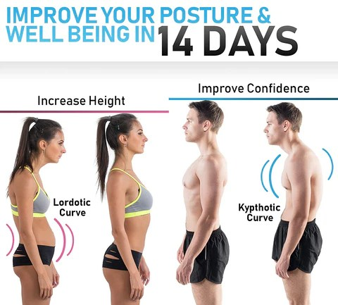 Magnetic Posture Corrective Therapy Back Brace For Men & Women increases your height and improve your confidence