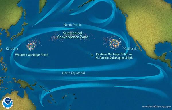isola di plastica Oceano Pacifico