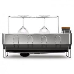 Kitchen Dish Drying Mat 36 Sink Racks Mats Room In Order Steel Frame Dishrack With Wine Glass Holder