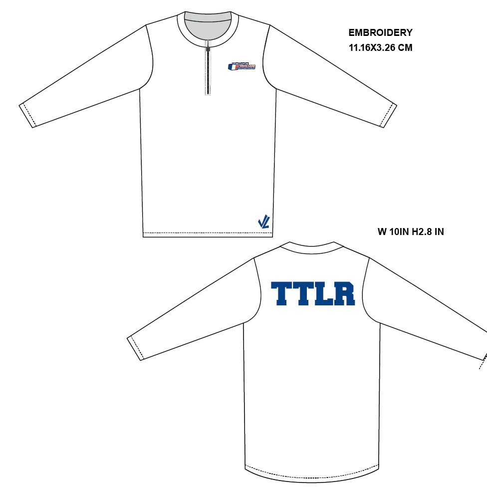 men s loose long sleeve shirt w quarter zip team [ 976 x 976 Pixel ]