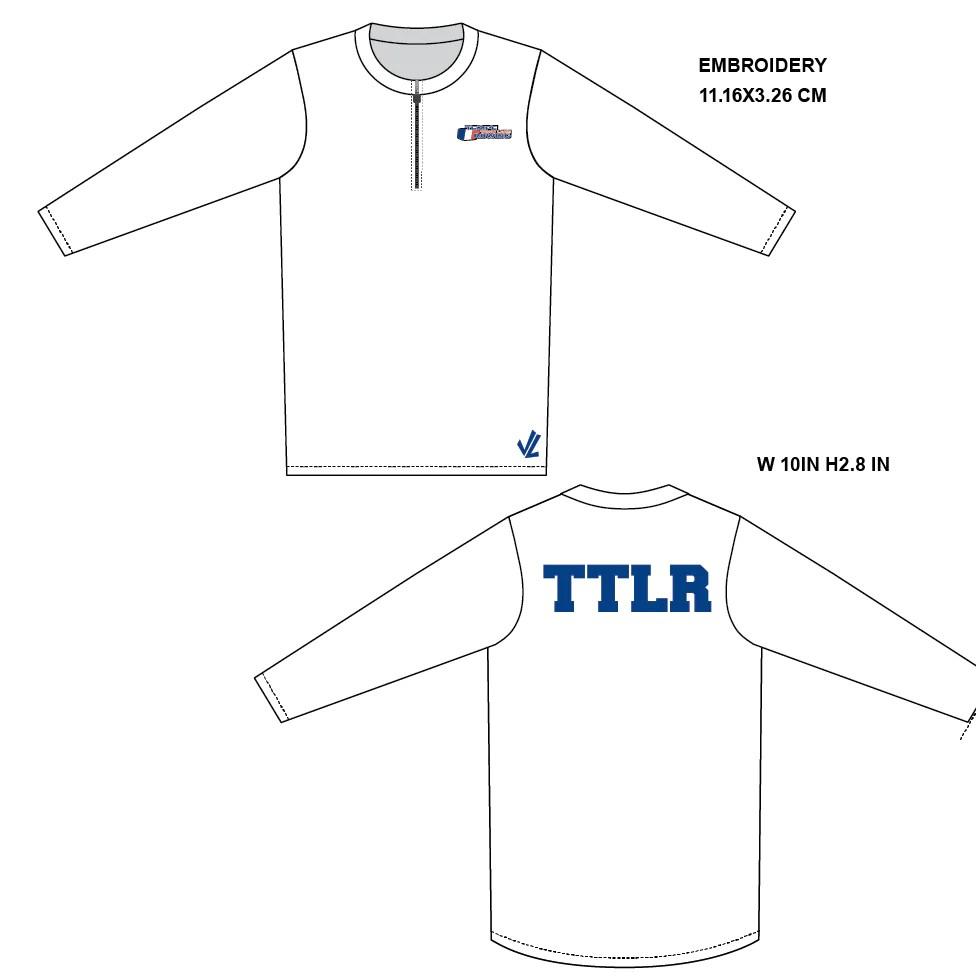 hight resolution of men s loose long sleeve shirt w quarter zip team