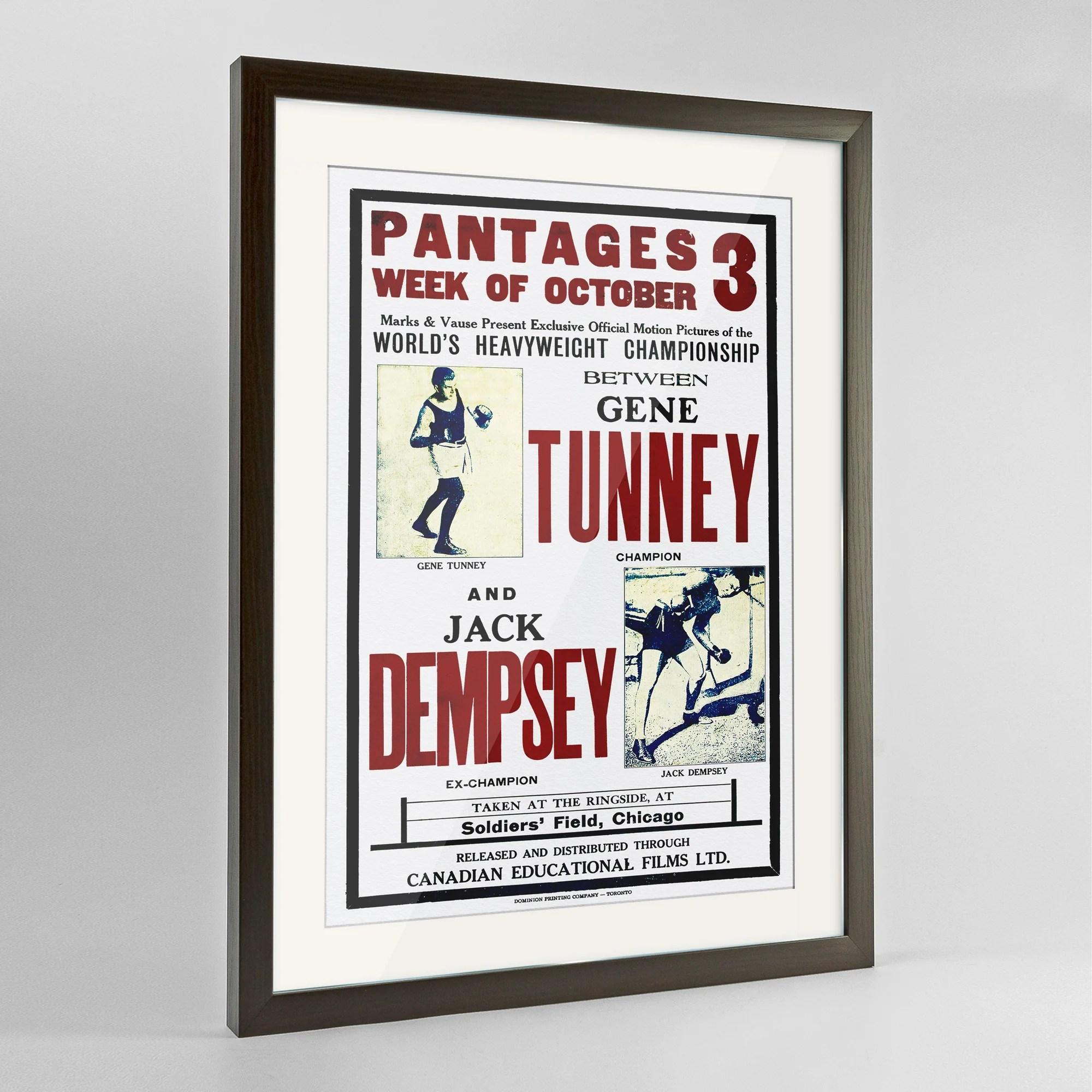pantages jack dempsey print