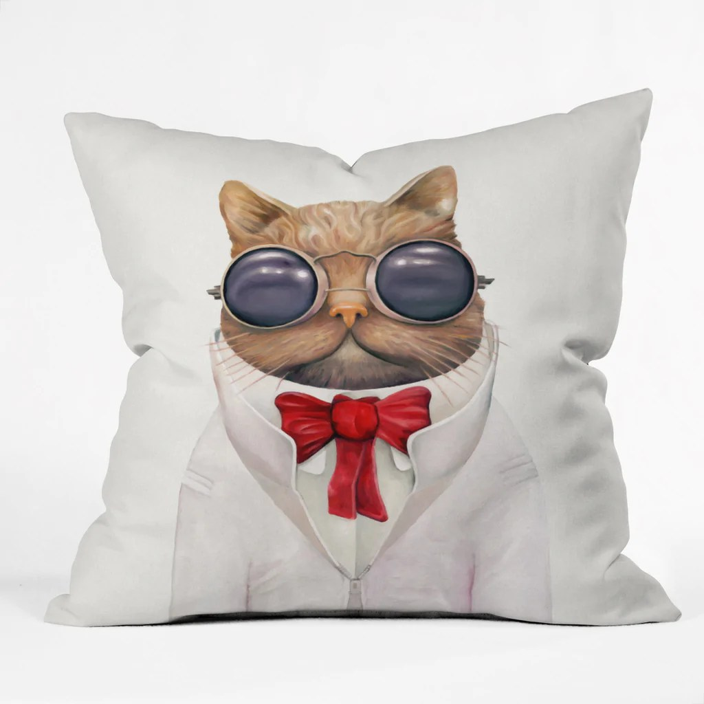 Astro Cat Outdoor Throw Pillow Animal Crew