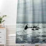 Ocean Rock Crash Shower Curtain And Mat Chelsea Victoria