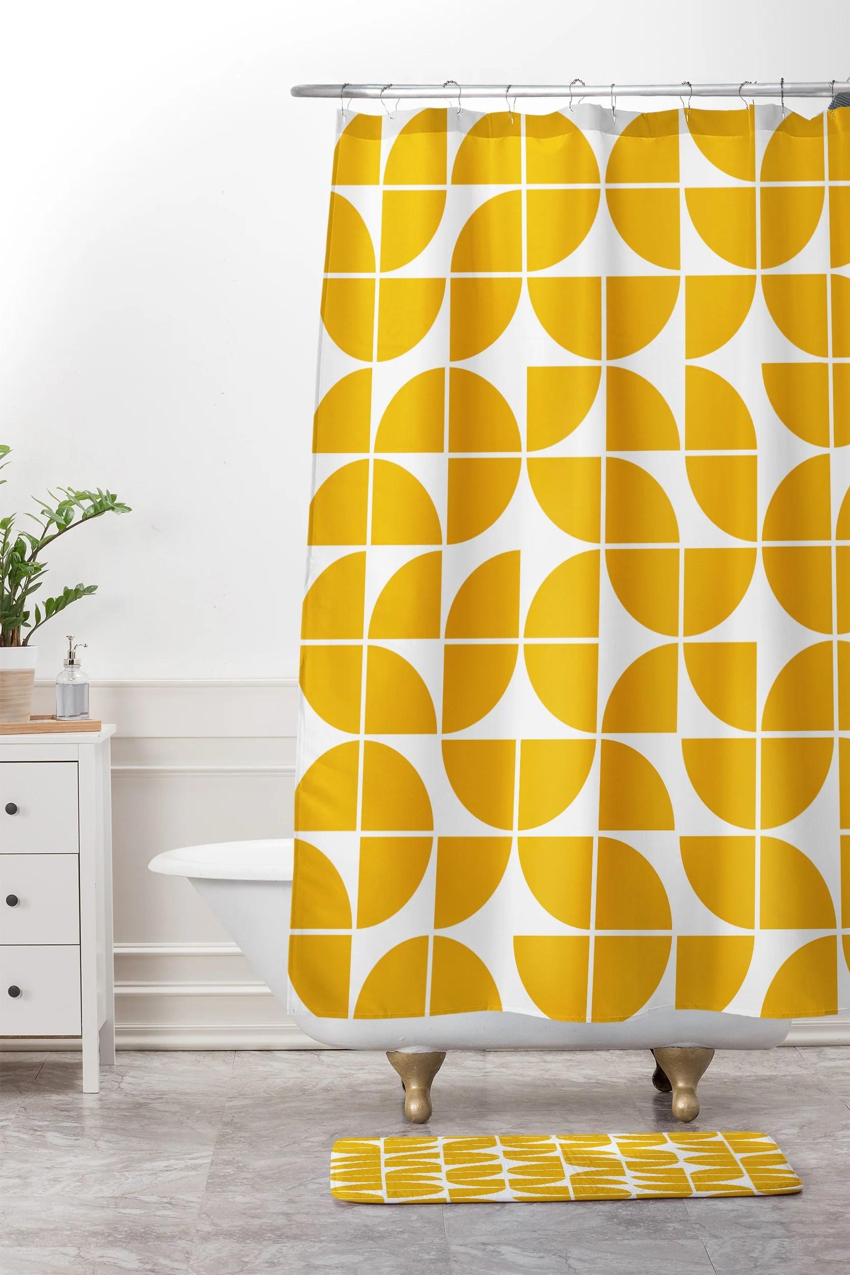 mid century modern geometric 20 yellow