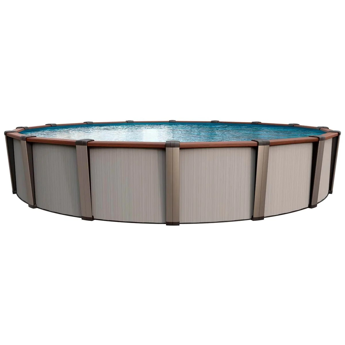 Luxor Round Above Ground Pool Kit Silver Great Backyard Place