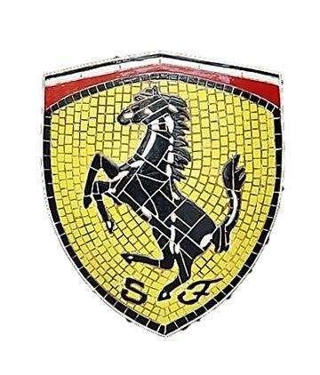 mosaic sign ferrari emblem