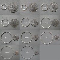 Hoop Earring Size Chart - Handmade hammered silver hoop ...