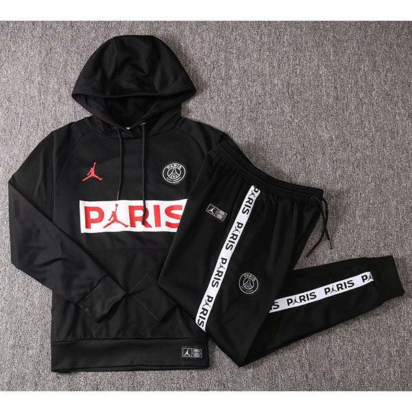 paris saint germain black kids hoodies suit 20 21