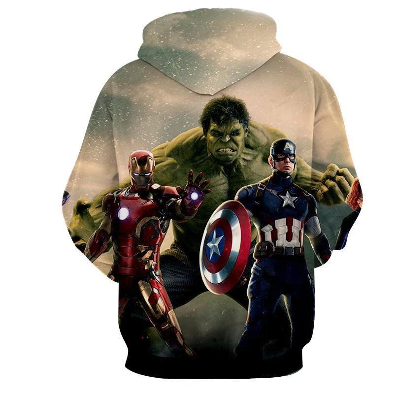 avengers 3d printed hoodie