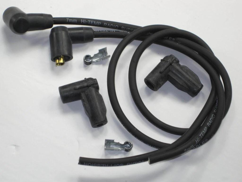 hight resolution of joe hunt magneto spark plug wires triumph bsa epdm ignition suppression core