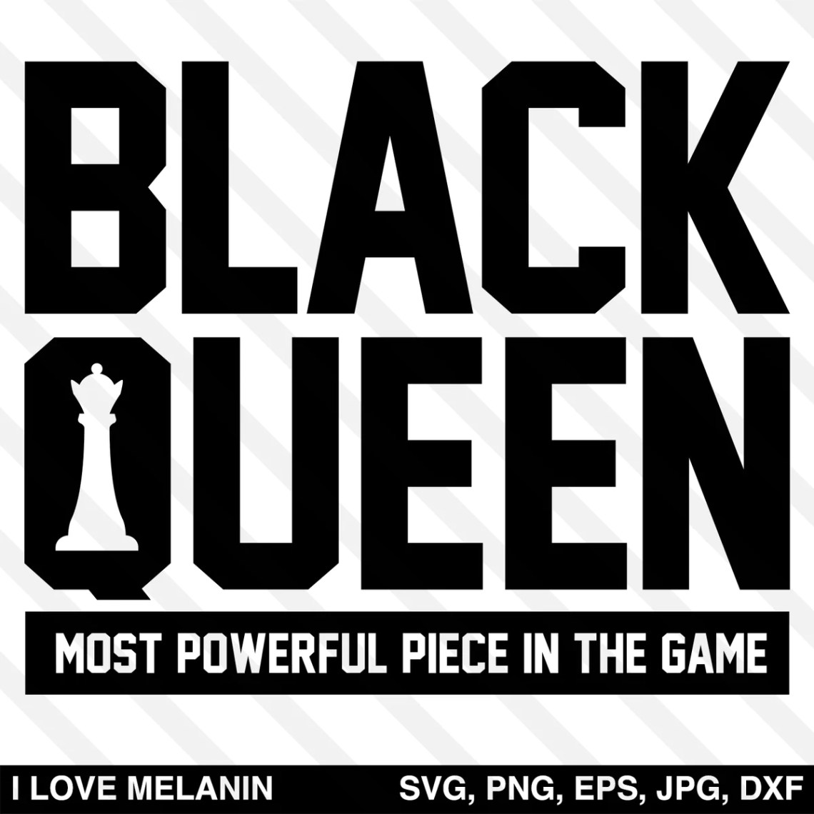 Download Black Queen Chess SVG - I Love Melanin