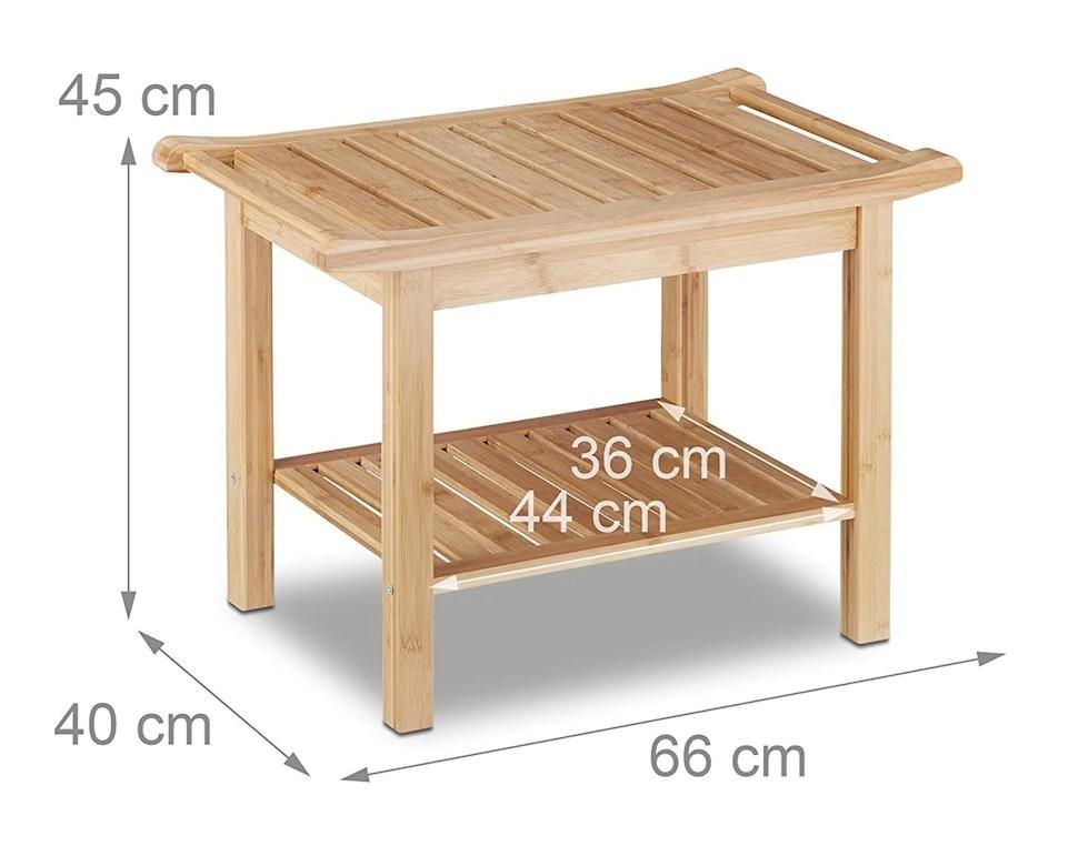 Helloshop26 Meubles De Salle De Bain Tabouret En Bambou Table Basse