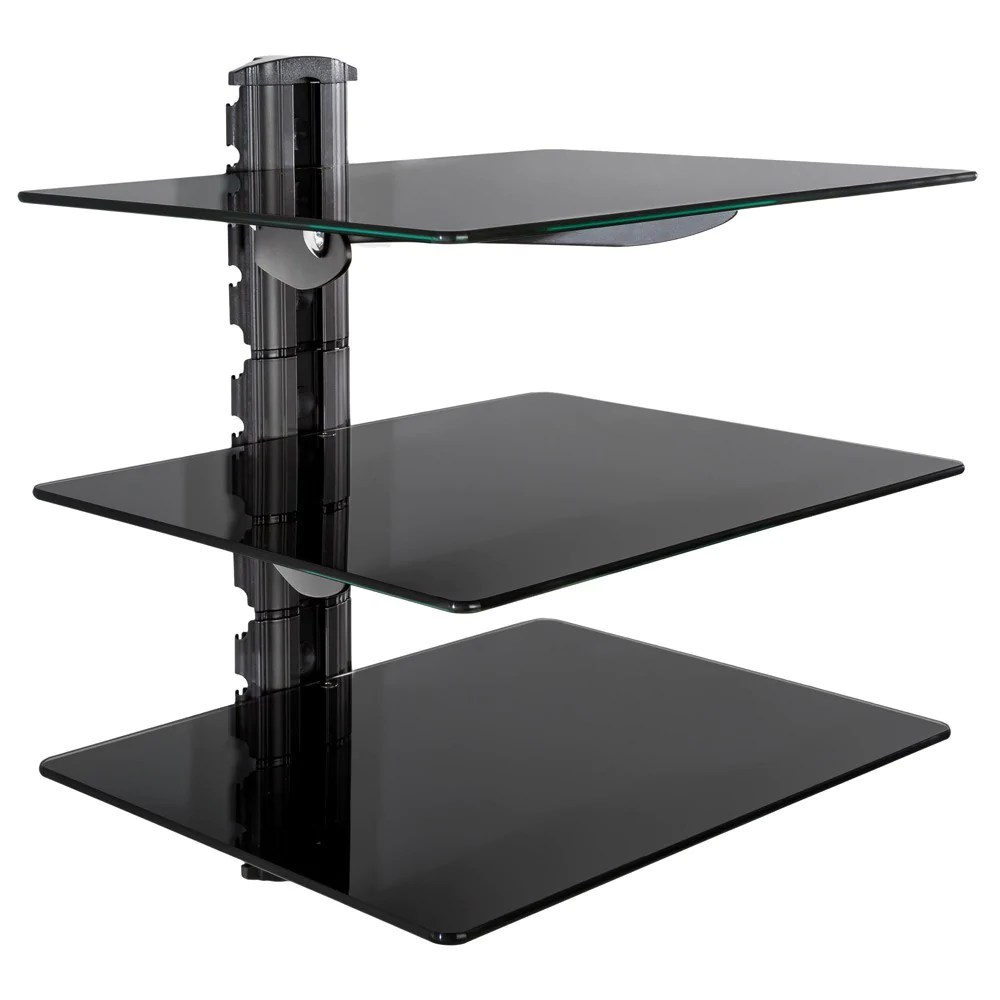 helloshop26 support tv etagere support mural pour dvd console 3 tab