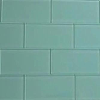 ocean glass subway tile 3 x 6 sample