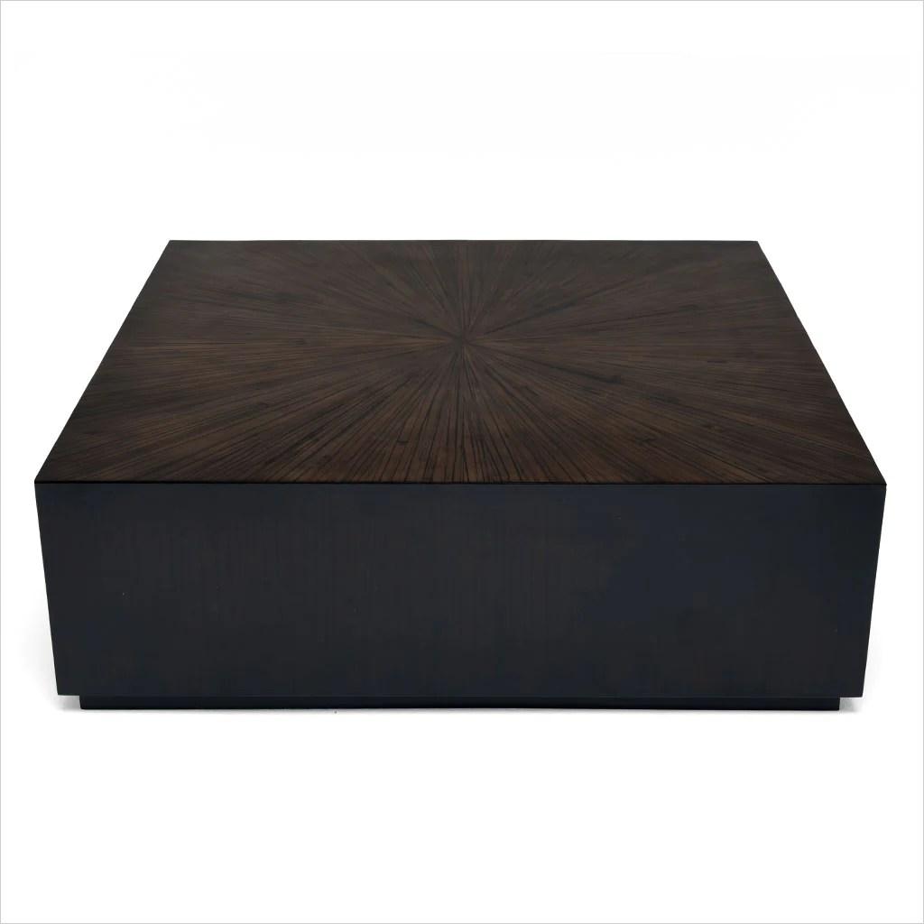 monoblock coffee table square ebony
