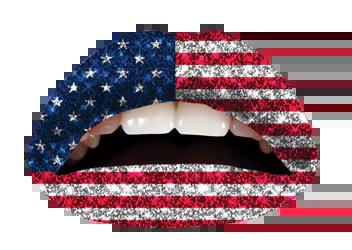 the american flag glitterratti