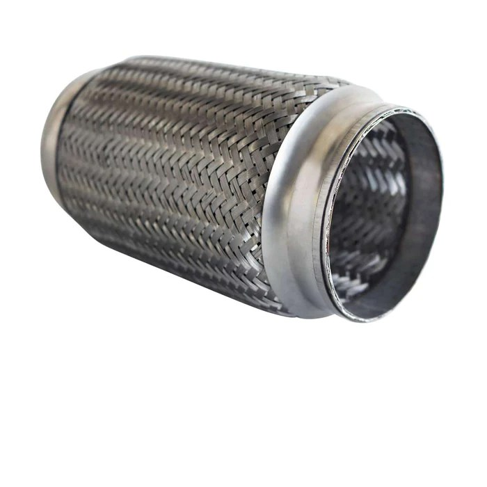 flexible bellow 3 1 2 inch x 8 inch long stainless exhaust pipe joint inner braid