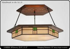 dining room lighting craftsman