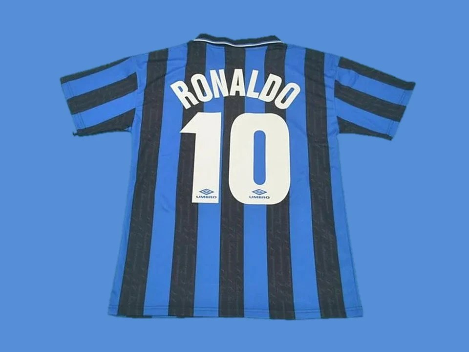 Inter Milan 1997 1998 Ronaldo 10 Home Jersey Vintage Jerseys
