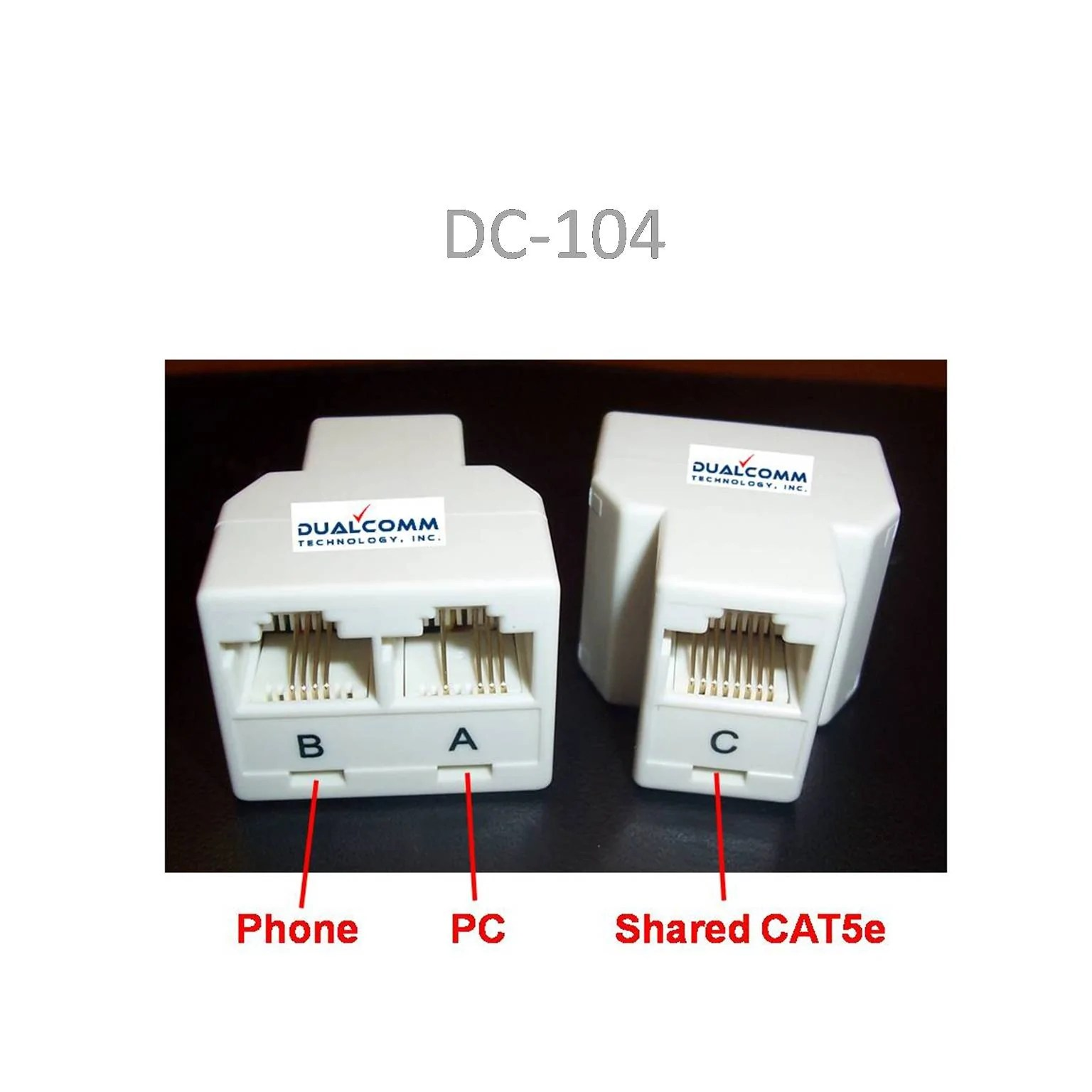 small resolution of load image into gallery viewer rj45 rj11 splitter cable sharing kit for ethernet and
