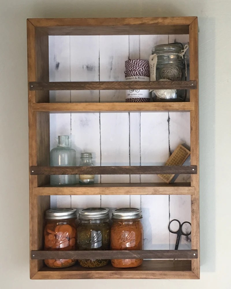 Mansfield Spice Rack - Wall Mounted Countertop